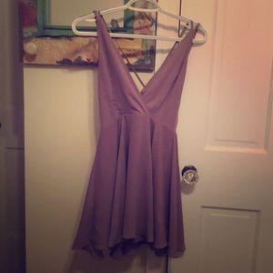 Dusty purple mini dress